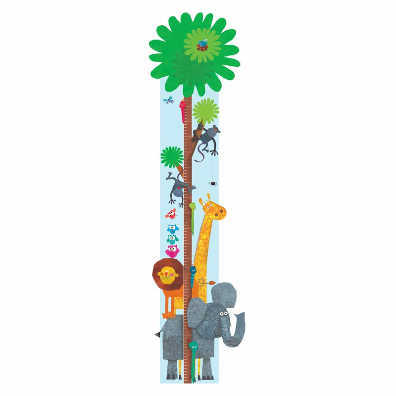 Stickerscape Jungle Growth Chart Wayfair