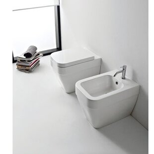 Affordable Bucket Ceramic Rectangular Vessel Bathroom Sink with Overflow By Scarabeo by Nameeks