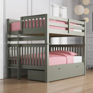 Treva Full over Full Bunk Bed with Storage by Harriet Bee