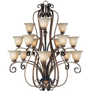 Fleur De Lis Living Windle 15-Light Shaded Chandelier