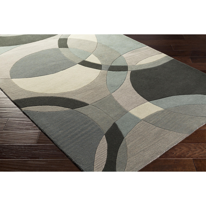 Dewald Geometric Handmade Tufted Wool