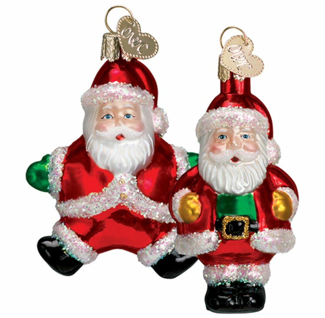 Old World Christmas 2 Piece Miniature Santa Hanging Figurine Ornament Set Wayfair
