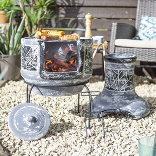 Blaze Clay Wood Burning Chiminea By Sol 72 Outdoor