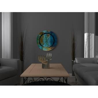 Orren Ellis Oversized Mariska Wall Clock Wayfair