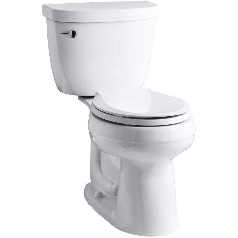 K 3851 U 0 Kohler Cimarron Comfort Height Two Piece Round Front 1 28 Gpf Toilet With Aquapiston Flush Technology Reviews Wayfair