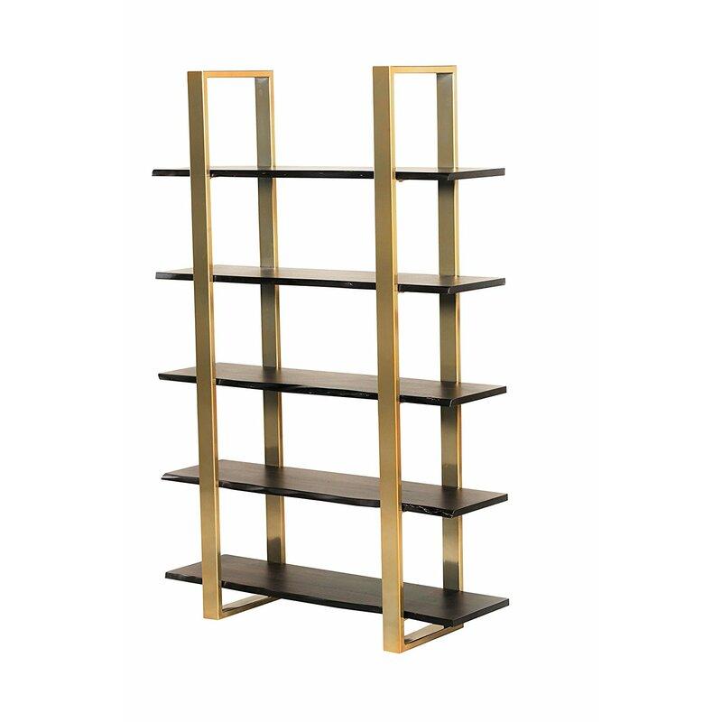 Everly Quinn Bertram Modern 5 Tier Etagere Bookcase Wayfair