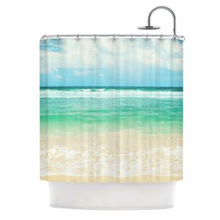 'Endless Sea' Coastal Single Shower Curtain