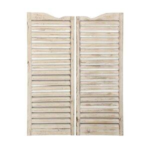Wood Saloon Doors Wall Du00e9cor (Set of 2)