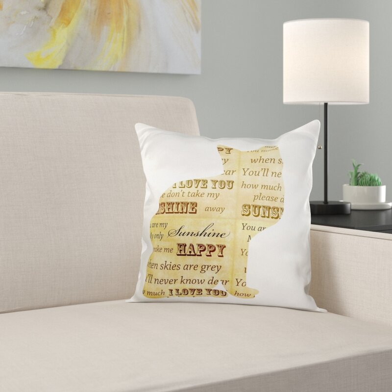 Yellow and Grey Spots Cushion with Insert Abstract Design Pillow Gift For Her Grey and Yellow Scatter Home Scatter Cushion Pillow