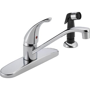 Peerless Faucets Single Handle Centerset Kitchen Faucet with Side Spray