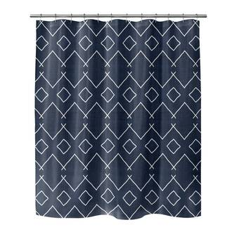 Bloomsbury Market Vergas Geometric Single Shower Curtain Wayfair