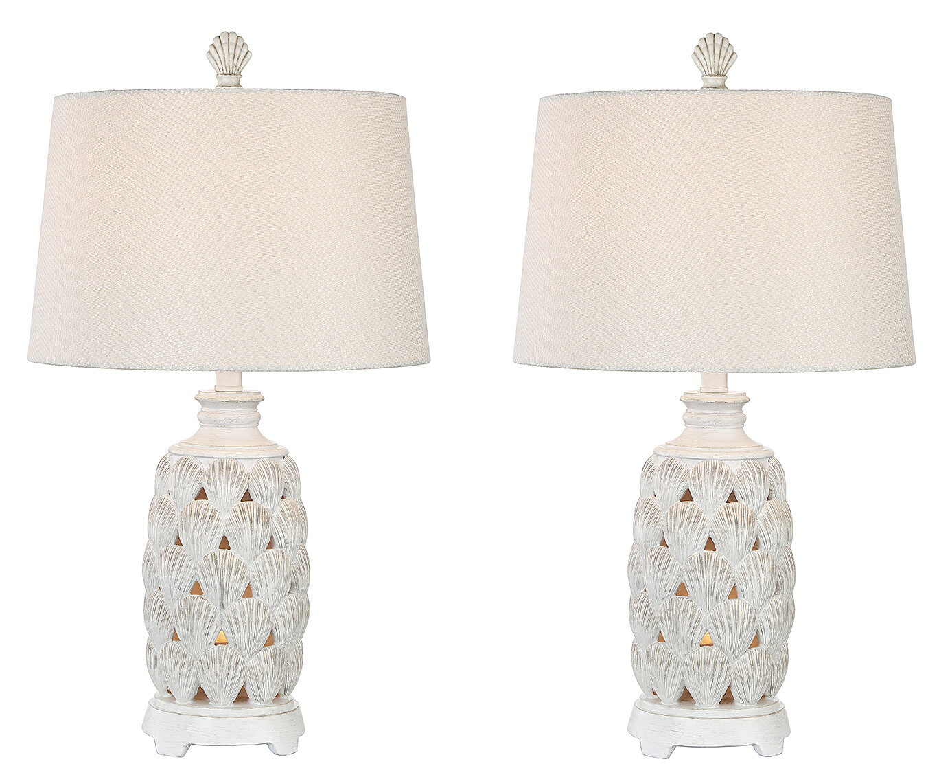 Resendez shell coastal 25 table lamp