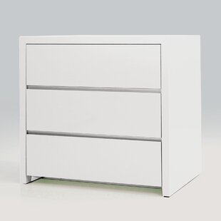 Comparison Blanche 3 Drawer Nightstand (Set of 2) by Mobital