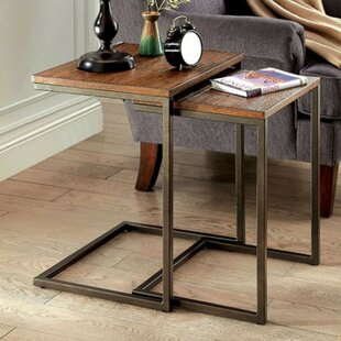 Lohan Industrial 2 Piece Nesting Table Set by 17 Stories