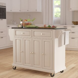 Pottstown Kitchen Island with Granite Top by DarHome Co