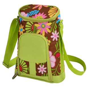 2 Can Floral Insulated Wine Tote Cooler