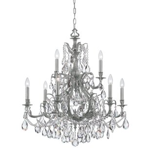 Crystorama Dawson 9-Light Candle Style Chandelier