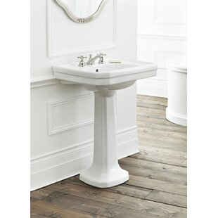 Best Reviews Mayfair Vitreous China 25 Pedestal Bathroom Sink with Overflow ByCheviot Products