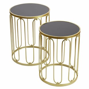 Goku Decorative Round 2 Piece Nesting Tables by Mercer41