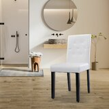 Manningtree Upholstered Parsons Chair in Pure White (Set of 2) by Red Barrel Studio®