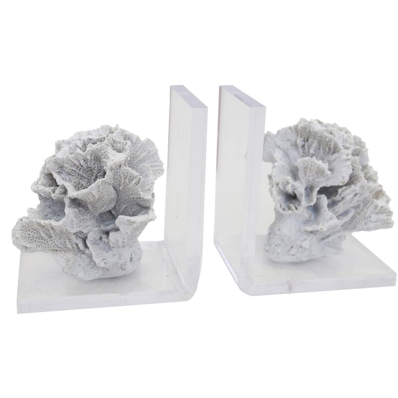 Highland Dunes Coral Bookends Wayfair
