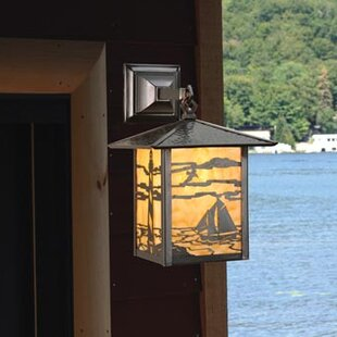 Affordable 1-Light Outdoor Wall Lantern By Meyda Tiffany