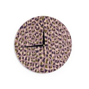 12 Wall Clock Kess InHouse Vasare NAR Hakuna Matata Azure Blue White Illustration