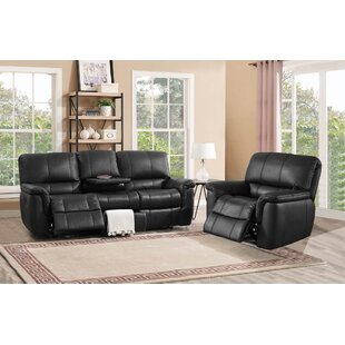 Averill Leather 2 Piece Living Room Set