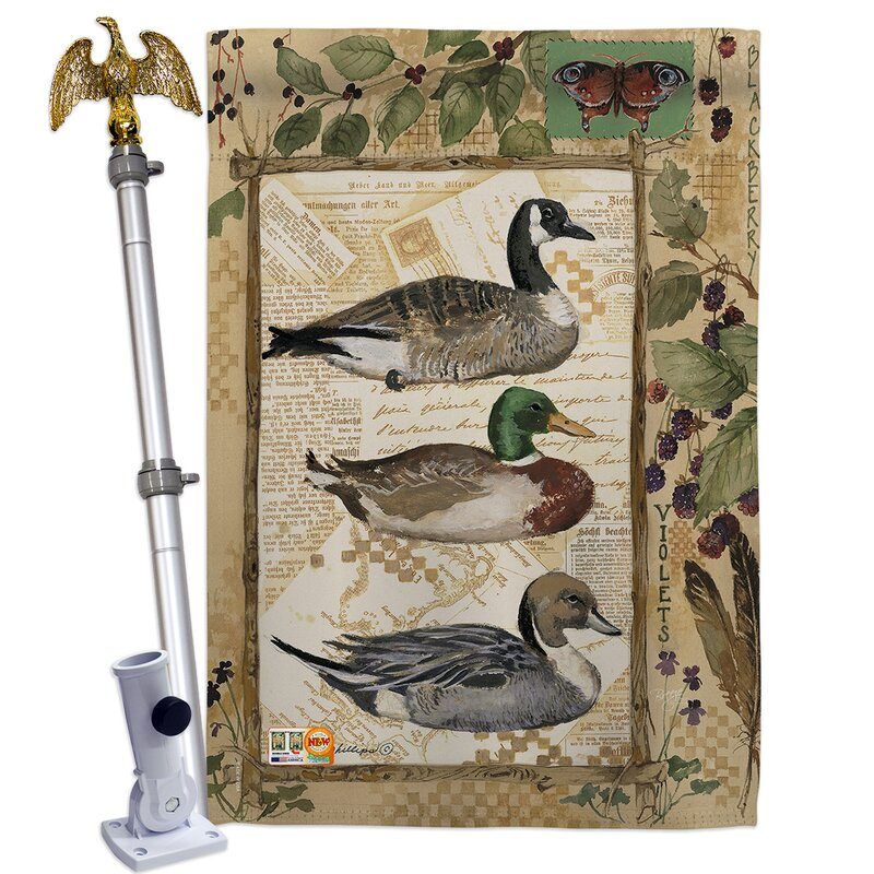 Breeze Decor Ducks And Geese Impressions Decorative 2 Sided Polyester 40 X 28 In Flag Set Wayfair