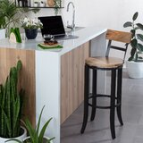 Erie Swivel Solid Wood Bar Stool by Williston Forge