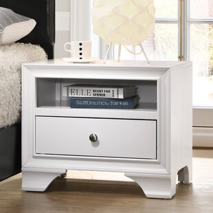 Red Barrel Studio Cleckley 1 Drawer Nightstand