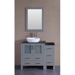 Beason 42 Single Bathroom Vanity Set with Mirror by Bosconi
