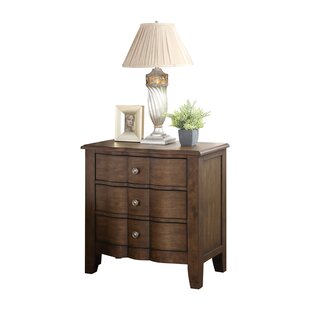 Rosemarie 3 Drawer Nightstand