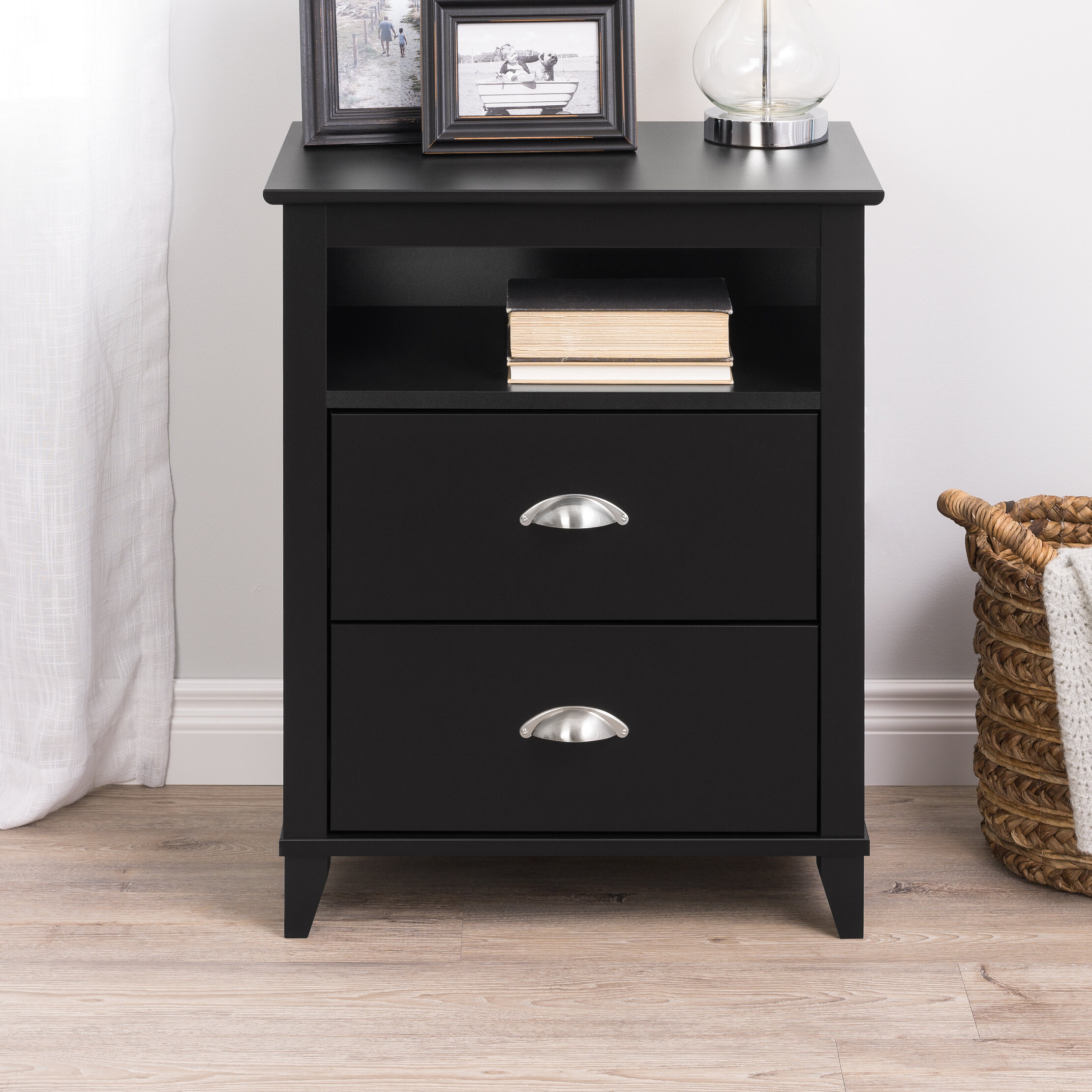 Beachcrest Home Pembrooke Traditional 2 Drawer Nightstand