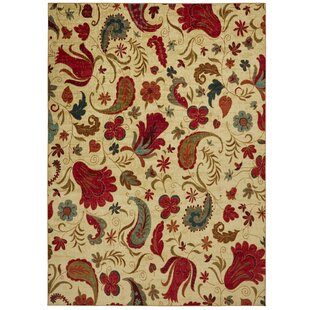 Reviews Virginia Beige/Red Area Rug By Andover Mills