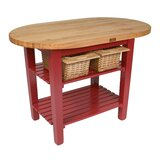 Eliptical C-Table Prep Table with Butcher Block Top by John Boos