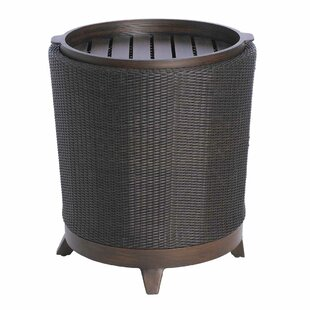 Halo Round Wrought Aluminum Side Table
