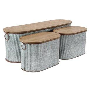 Affordable Corrugated Oval Storage and Box Set (Set of 3) ByGracie Oaks