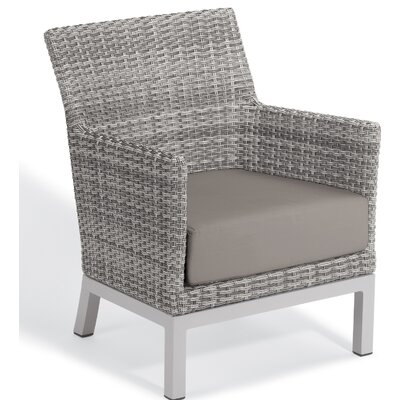 Brayden Studio Saleem Club Patio Chair with Cushions Cushion Color: Stone