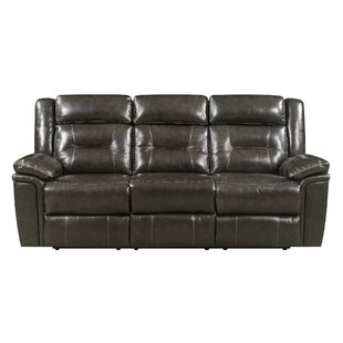Red Barrel Studio Marlink Leather Reclining Sofa