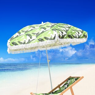 Bayou Breeze Fedna Fiberglass Portable 6.5' Beach Umbrella
