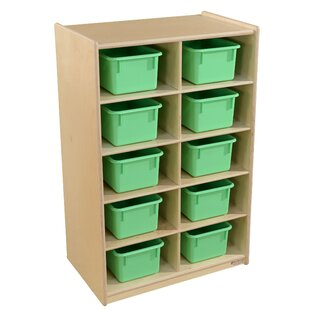 Online Reviews 10 Compartment Cubby with Trays ByWood Designs