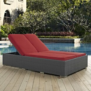 Jarus Double Reclining Chaise Lounge with Cushion