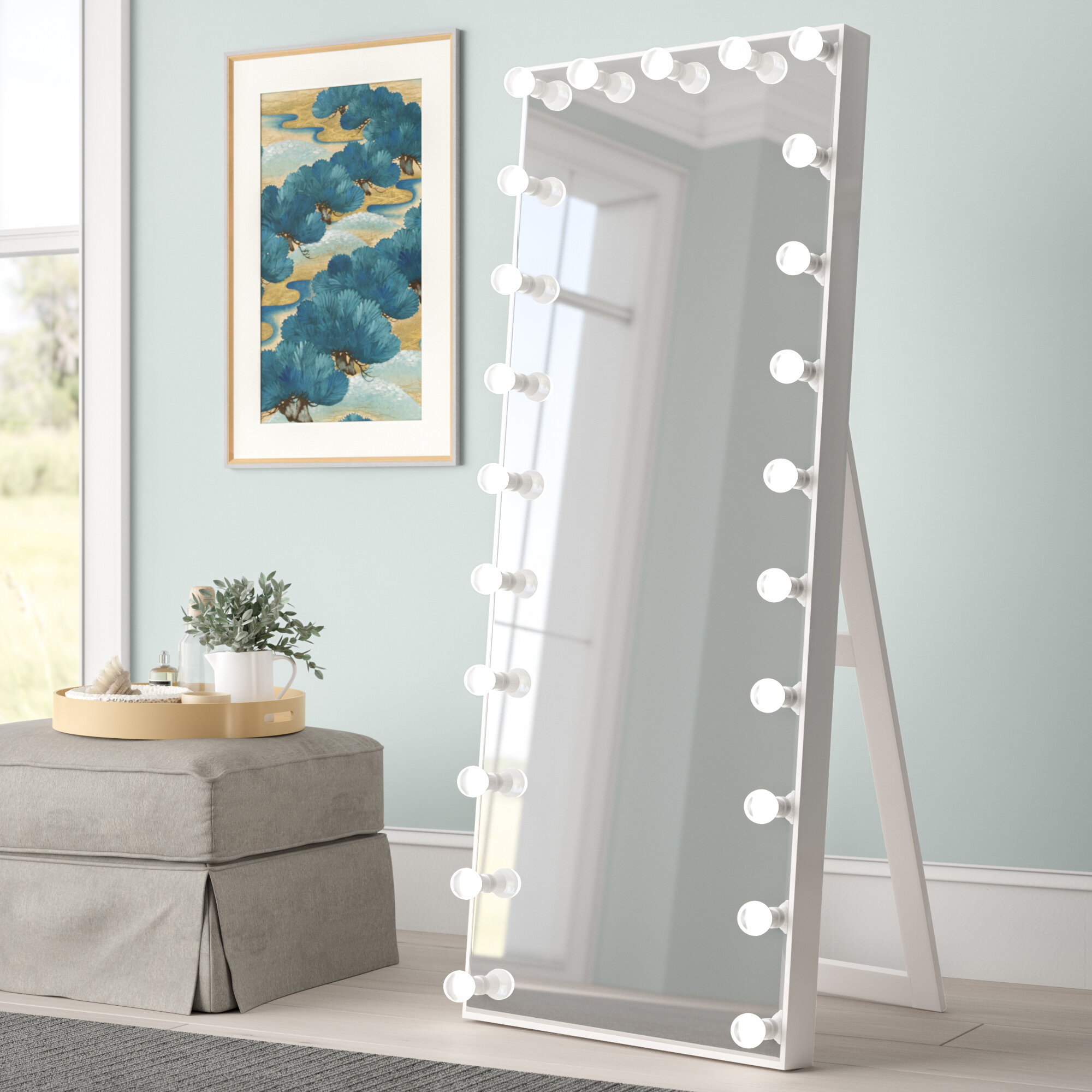 Standing Mirror With Lights