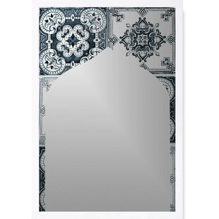Bungalow Rose Justin Mediterranean Tile Accent Wall Mirror
