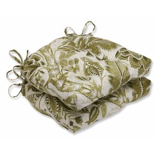 Java Tree Moss Cotton Reversible Chair Pad (Set of 2)