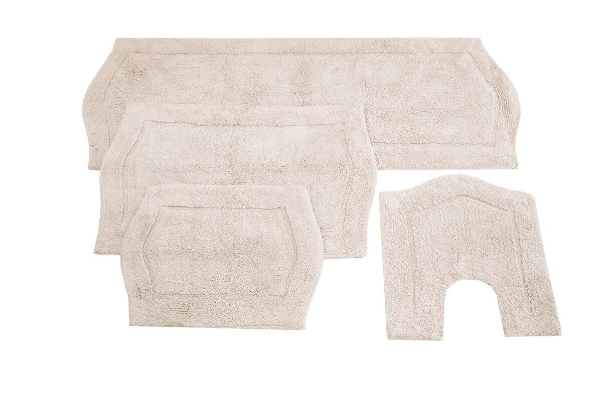darby home co shera 4 piece bath rug set & reviews | wayfair