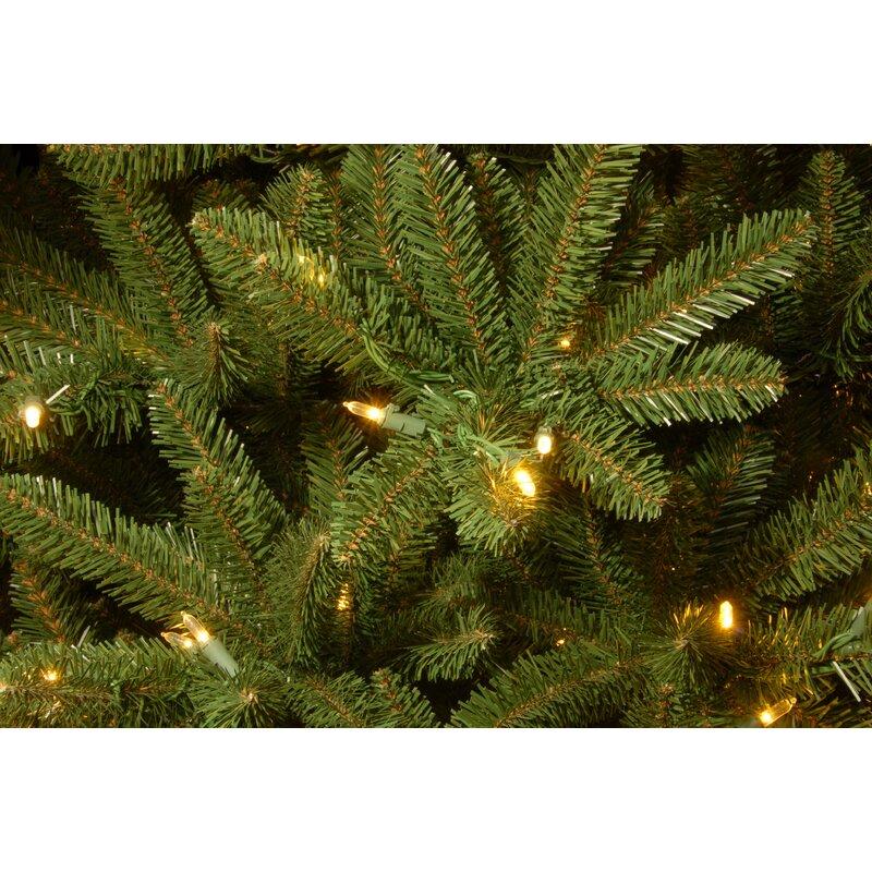 Next Slim Christmas Tree: Red Barrel Studio Slim 4.5' Green Fir Trees Artificial