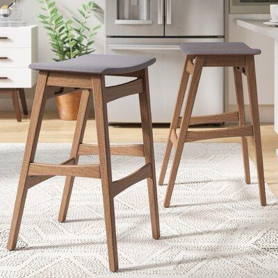 Magnificent Corrigan Studio Burroughs 30 Inch Bar Stool Upholstery Dark Gray Ibusinesslaw Wood Chair Design Ideas Ibusinesslaworg
