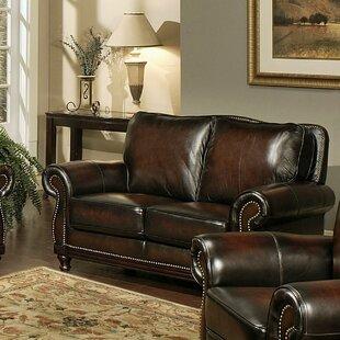 Reynolds Leather Loveseat by Breakwater Bay